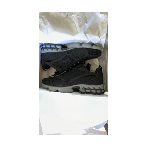 Nike Stussy Air Zoom Spiridon Cage 2 - 블랙 - Size 9.5 US M IN HAND SHIPS FAST