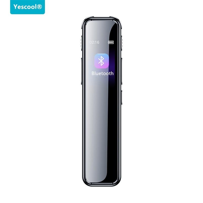 초소형 녹음기 소형 통화 음성 전화 시크릿 보이스 레코더 Yescool A8 장시간 블루투스 활성화 가변 속도 재생 MP3, 8GB