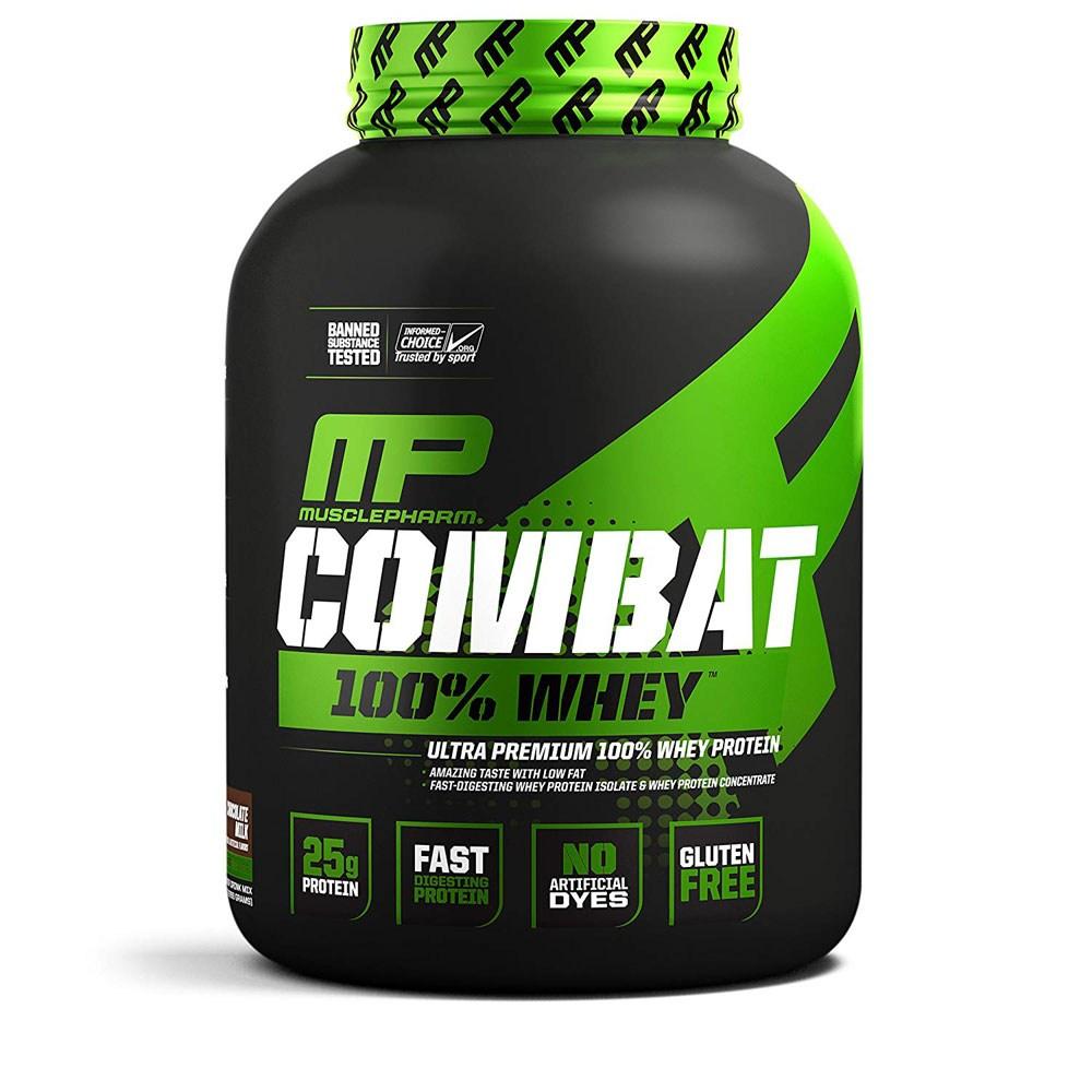 머슬팜 컴뱃 100% 웨이 프로틴 초코 밀크 5lb(2.27kg) MusclePharm Combat 100% Whey Chocolate Milk, 1개
