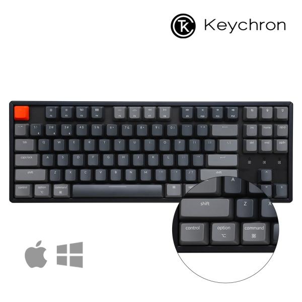 키크론 K8 알루미늄 RGB 유무선 텐키리스 기계식키보드 적축, 옵션없음, 옵션없음