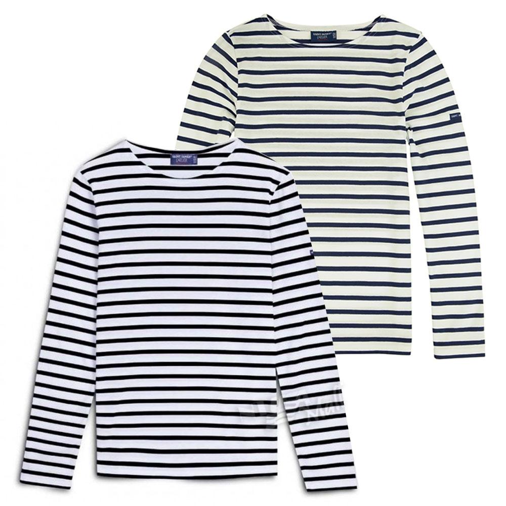 세인트제임스 남녀공용 밍콰이어 모던 스트라이프 긴팔티셔츠 9858