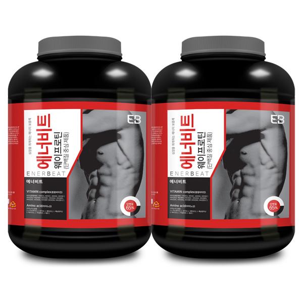 웨이테크 에너비트 웨이프로틴 WPC 고함량 단백질보충제 /사은품 증정, 2kg, 2개