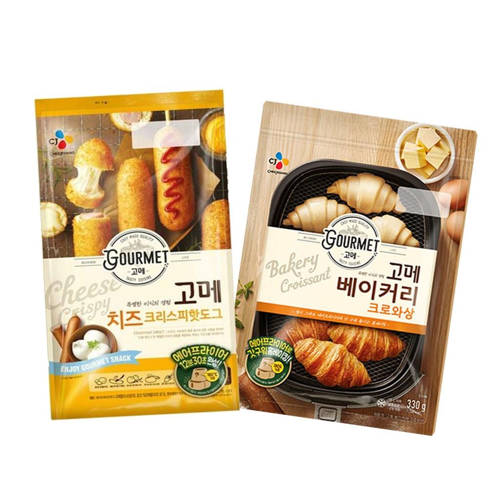 (냉동)고메 크로와상330gx1개+(치즈)크리스피핫도그425gx1개, 1세트