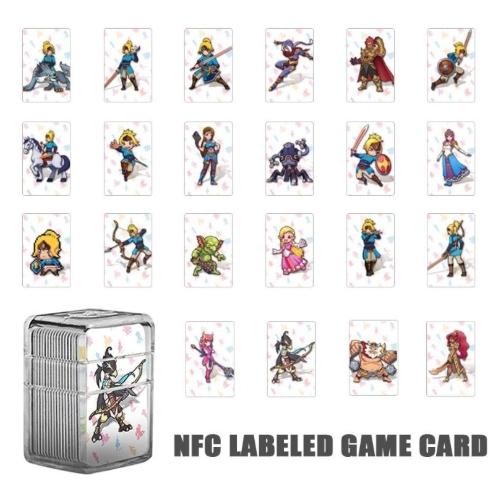[할인특가] VKTECH 22Pcs amiibo 게임용 NTAG215 NFC 태그 게임 카드 Nintendo Switch NS 용 와일드 카드 젤다카드 젤다의전설 닌텐도 스위치