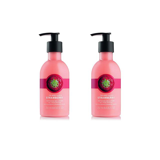 더 바디 샵 스트로베리 소프트닝 퓨리 로션 The Body Shop Softening Puree Lotion 8.4oz 250ml 2팩, 2개
