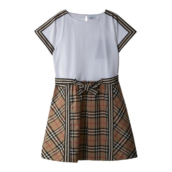 [버버리칠드런] 버버리 키즈 빈티지 체크 디테일 코튼 드레스 8033572 C KG2 RA