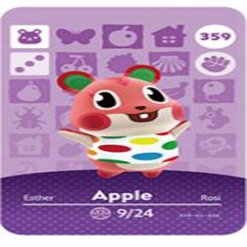 모여봐요 동물의숲 모동숲 아미보 카드 인기 주민 30종 개별 구매 세트X, 1개, 애플