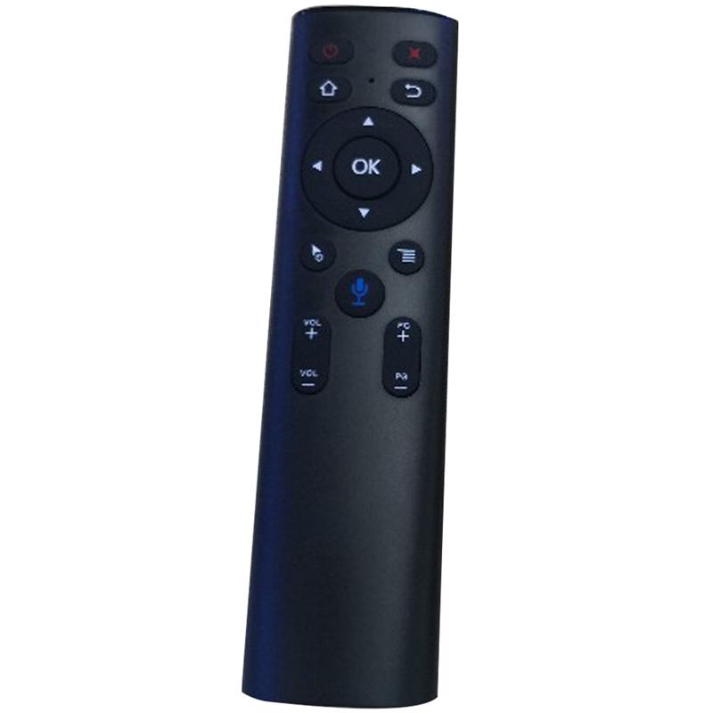 A6 2.4G 미니 무선 에어 마우스 음성 스마트 리모콘으로 마이크 IR 학습 안드로이드 TV 상자에 대한 Google 검색, 하나, 검정 (POP 5741081726)