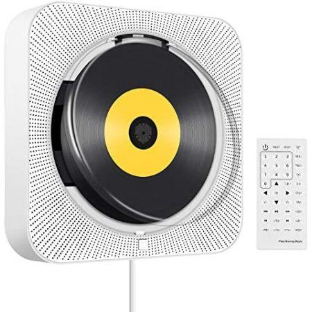 [아마존베스트]Tenswall Portable CDDVD Player with Bluetooth Wall Mountable CD DVD Player HDMI Buil, 상세 설명 참조0, 상세 설명 참조0