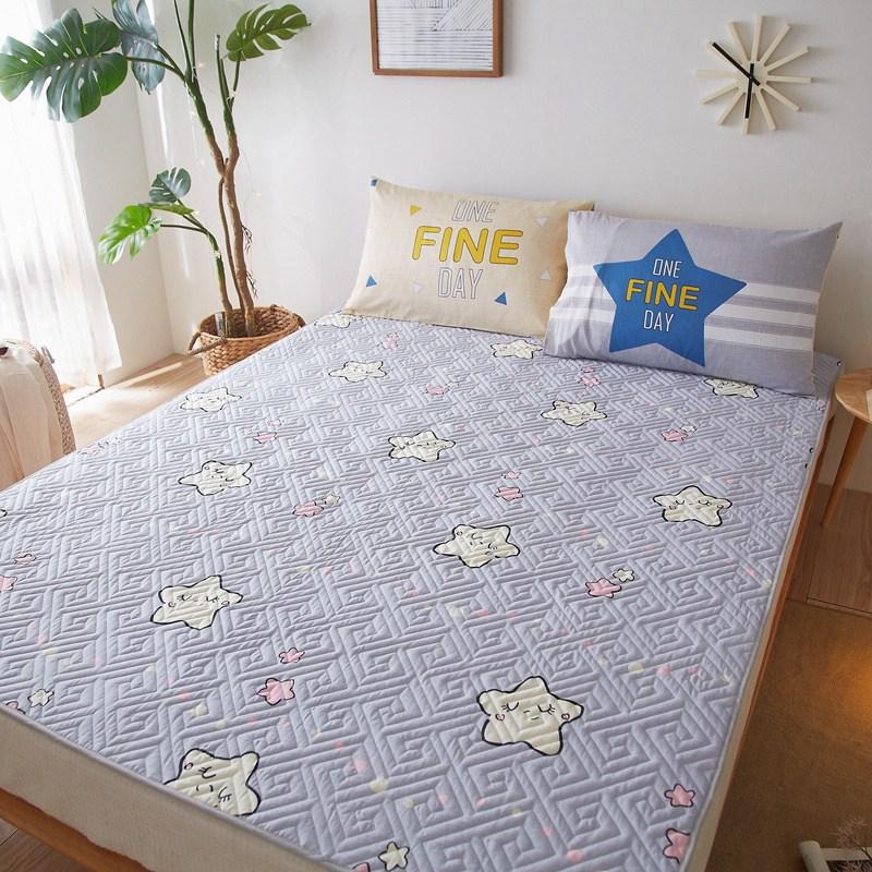 매트리스토퍼 쿠션 침대매트 세탁기세탁 침대순 자보호 매트얇은 미끄럼방지 아동침대 순면 접이식 다다미, C01-0.9x2.0m싱글 매트리스