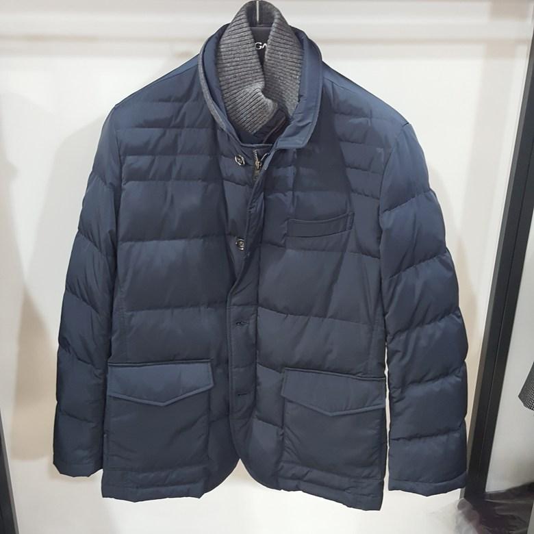 [행복한백화점][보스렌자]남성 기본라인 겨울 덕다운 이중넥 패딩점퍼 네이비컬러 REFJP8414