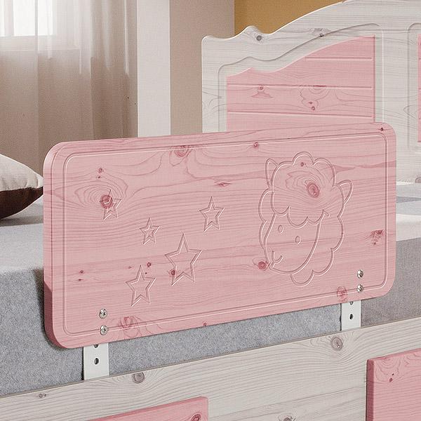 젠티스 침대안전가드, 핑크 80cm