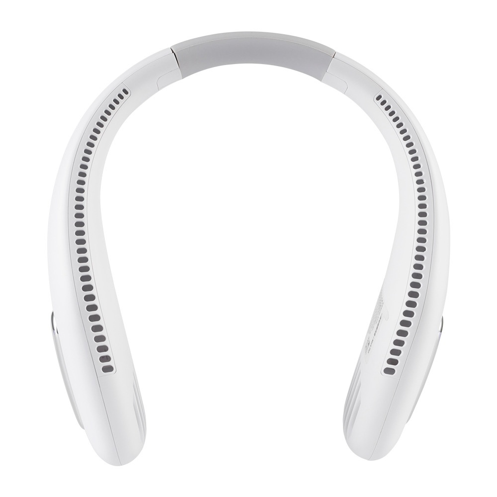 비켄 소음방지 넥밴드 선풍기 화이트, White, F41 (POP 5345497035)