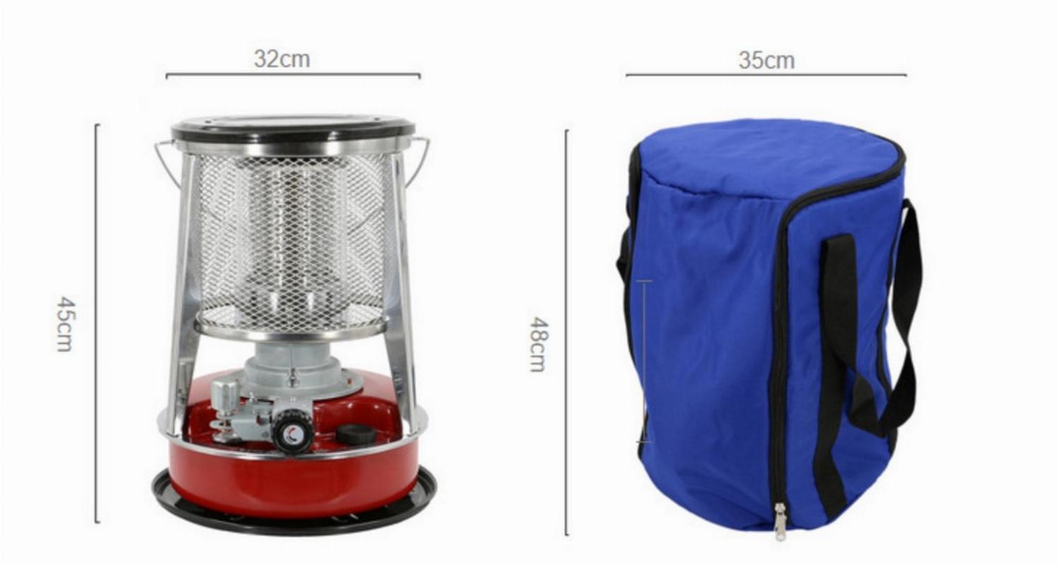 화목난로 캠핑 등유 난로 가정용 야외 가정용 히터, 빨간