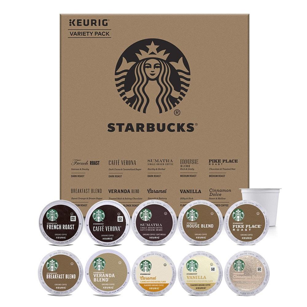 스타벅스 Starbucks Starter Kit Variety Pack for Keurig 큐리그 버라이어팩 40캡슐 461g 1팩, 1세트, 1ml