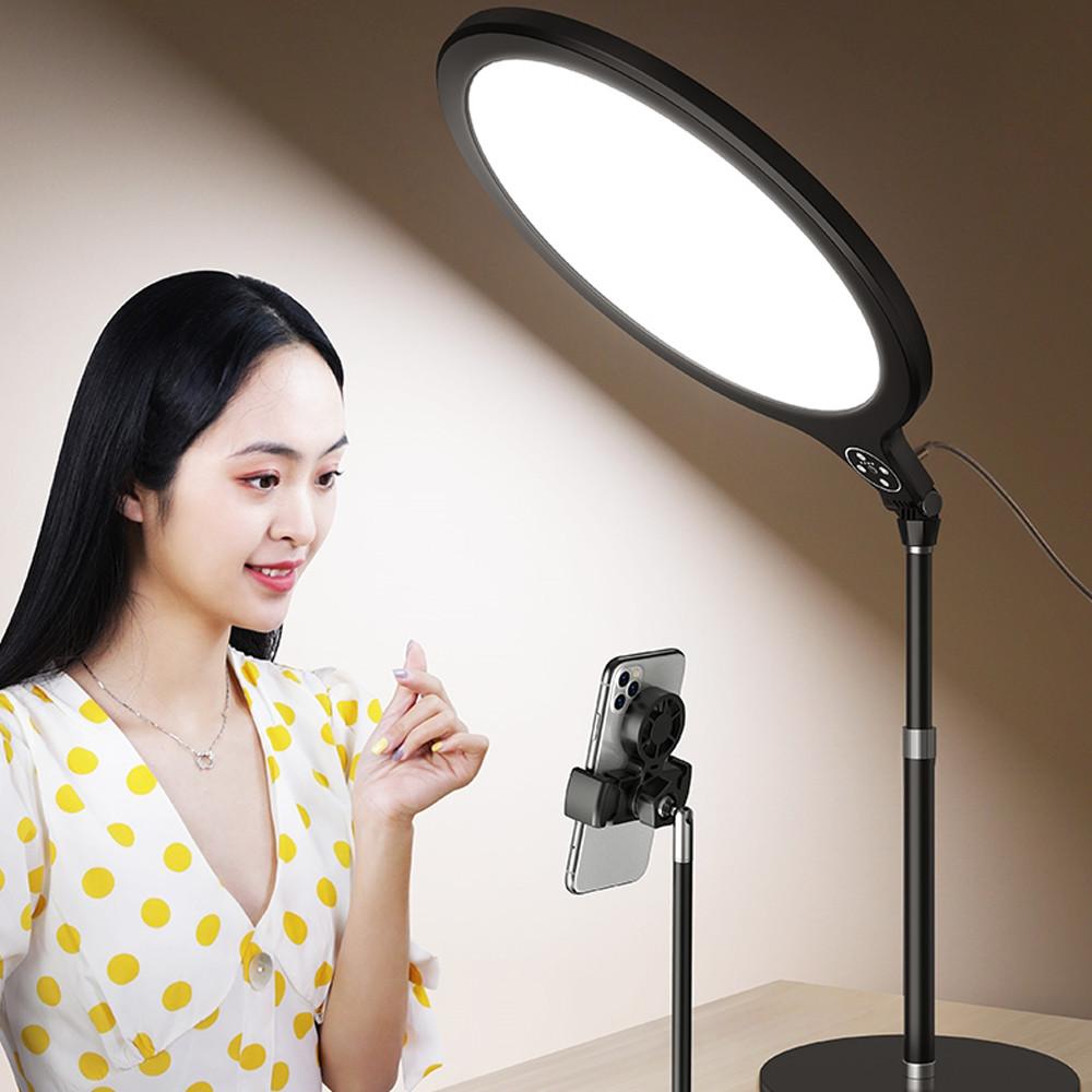 방송조명 개인 방송 유튜브장비 촬영조명 유튜브조명 유튜버 1인 방송용 인터넷 촬영용 사진 Opl, 01. 26cm 3색 LED조명