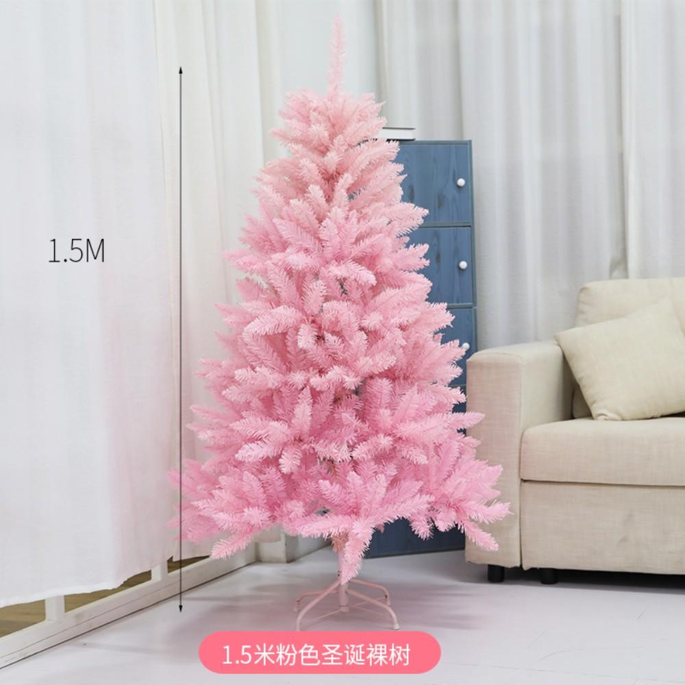 크리스마스 핑크 트리 1.2 1.5 1.8m 크리스마스 트리 세트 홈쇼핑 쇼윈도 장식, 1.5미터 핑크빛 첨두 나목