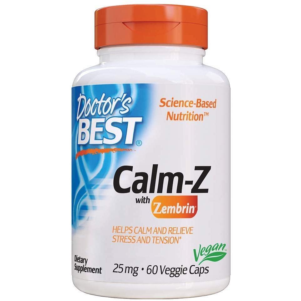 닥터스베스트 Doctors Best Calm-Z 25mg 스트레스 심신안정 식물성캡슐 60정 기타영양제, 상세페이지 참조, 상세페이지 참조