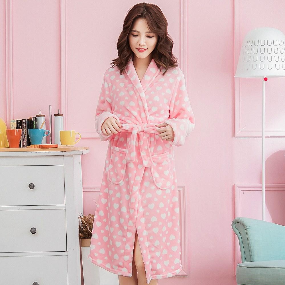 로리돌스 핑크 하트 수면 가운 QM5108