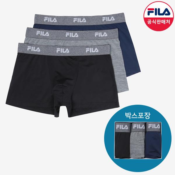 [공식] FILA 남성 드로즈 3매입 멜란지밴드 (FI4DRC6410M_BLK)