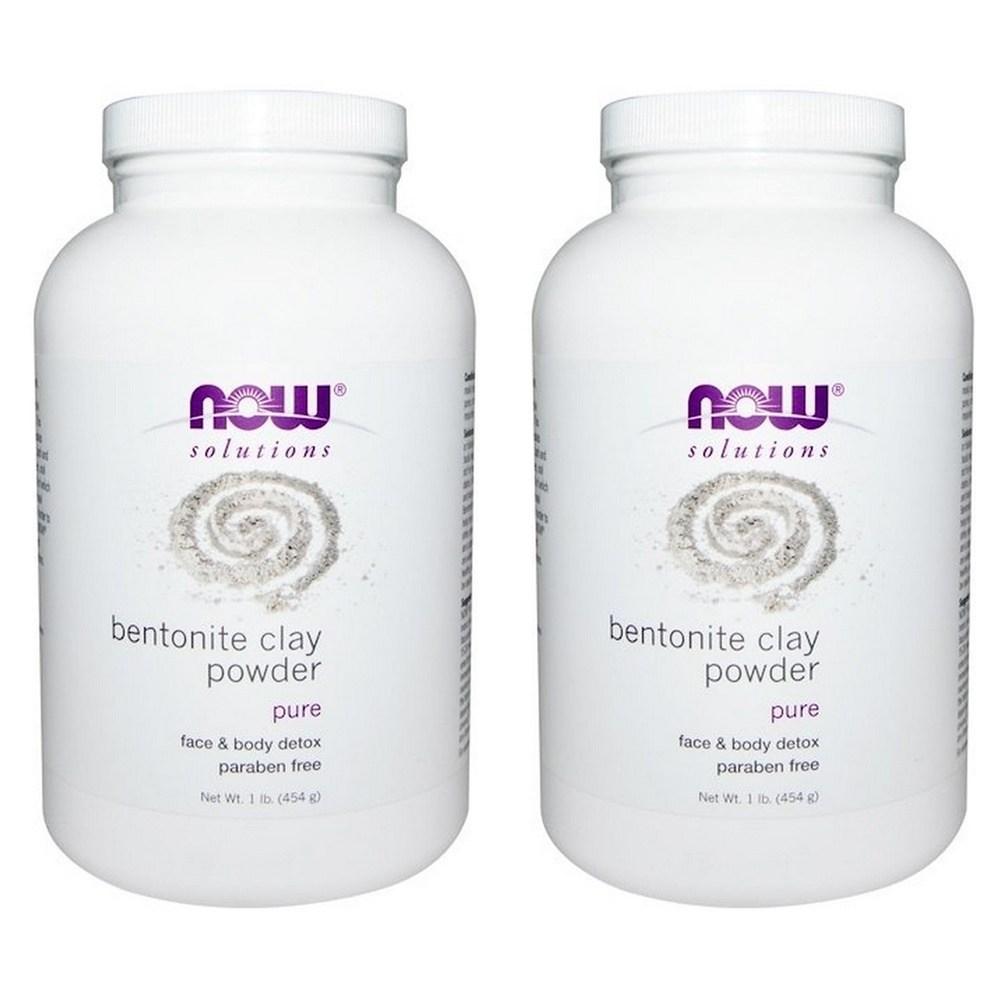 나우푸드 솔루션즈 벤토나이트 클레이 파우더 Bentonite Clay Powder 1lb(454g) 2팩, 1개, 1개