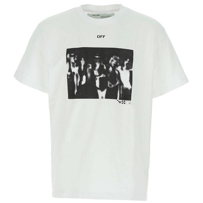 [Off White]오프화이트 티셔츠 OMAA038R20185015 0110 WHITE / 라운드넥/반팔
