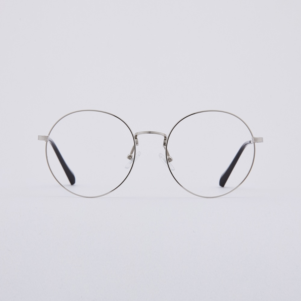 AlixL silver 안경테 투명테 다초점 독특한 투명