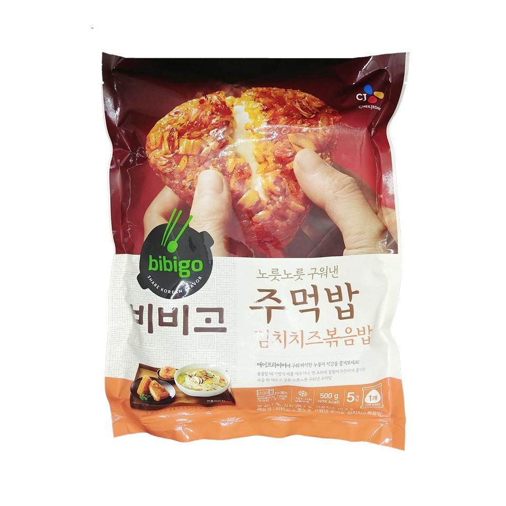 비비고 CJ 노릇노릇구워낸 주먹밥 김치치즈볶음밥 500g, 1개