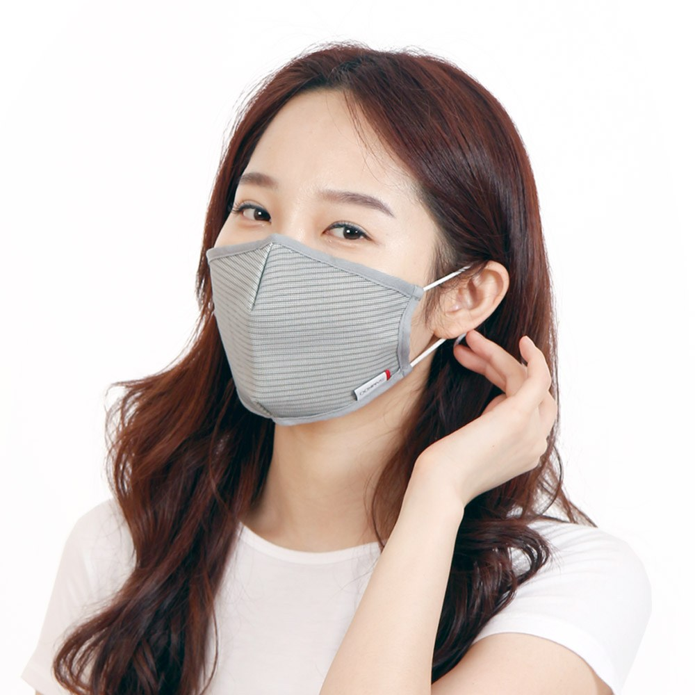 JSC 국산 숨쉬기편한 빨아쓰는 마스크 -쿨 구리 광촉매마스크 그레이, 1개, 1매