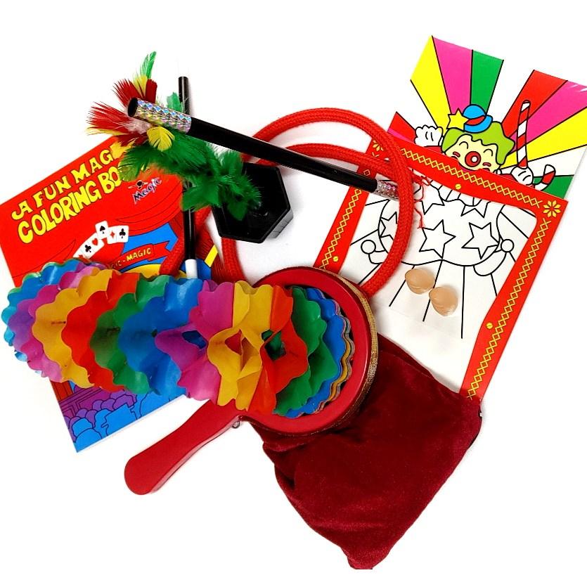 7종 무대마술도구세트 쉽고 재미있고 신기한 매직키트 장기자랑 학예회 마술도구 해법영상QR제공 선물용 남녀노소 마술아이템