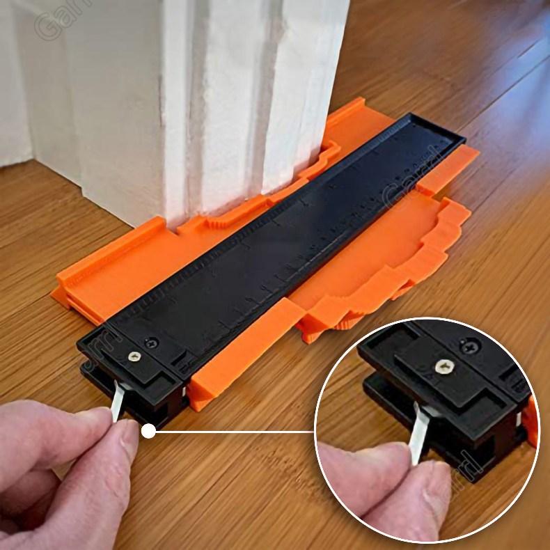 Garrl 윤곽 게이지 250mm*132mm 프로파일 도구 불규칙한 모양 복제 DIY 목공 건설 따기 조정 가능한 자물쇠 와 눈금자 포함