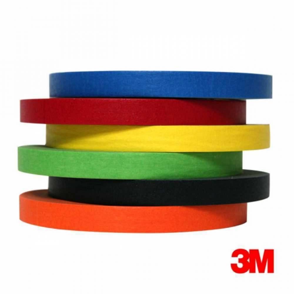 H 3M 칼라 종이 마스킹테이프 12mmx40M, 3M 그린색