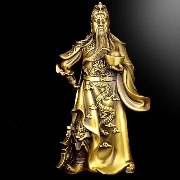불교용품 황동 재물의신 관우 무재신 30cm불상