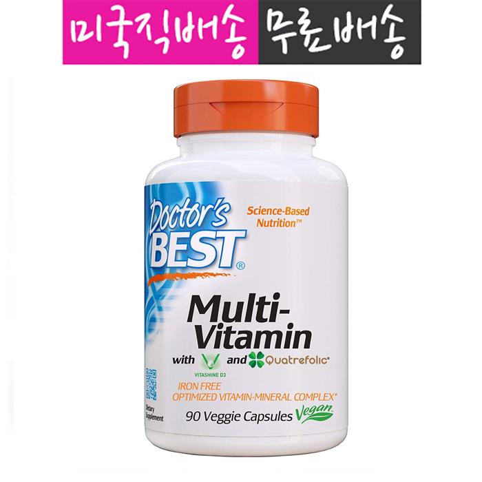 Doctors Best 닥터스베스트 멀티 비타민 베지 90 캡슐, 단일상품