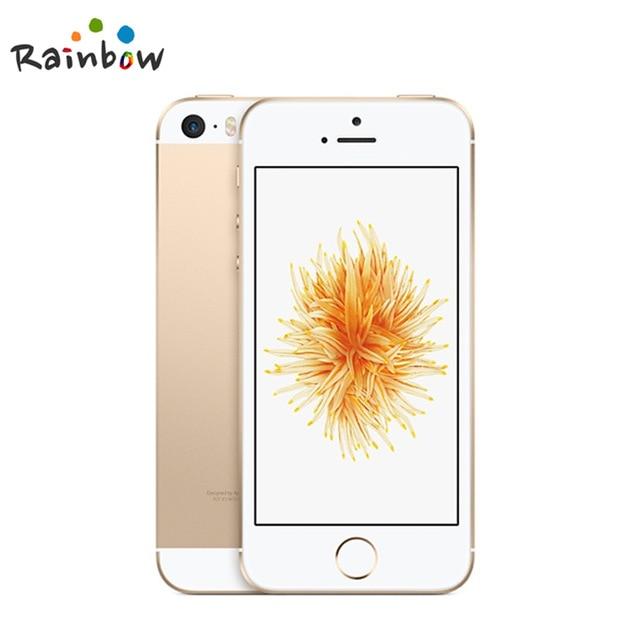원래 잠금 해제 애플 아이폰 SE 지문 듀얼 코어 4G LTE 스마트 폰 봉인 2GB RAM 16/64GB ROM 터치 ID 휴대, 04 Gold, 04 64GB A1723