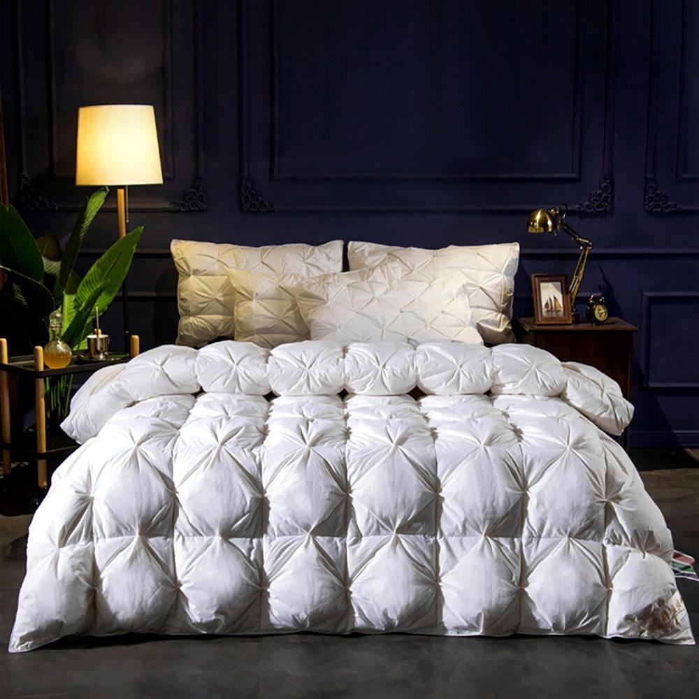 5성급 프리미엄 호텔 이불 구스다운 이불 거위털 95% 사계절 가을 겨울 봄 솜털 더블 퀸 킹 사이즈