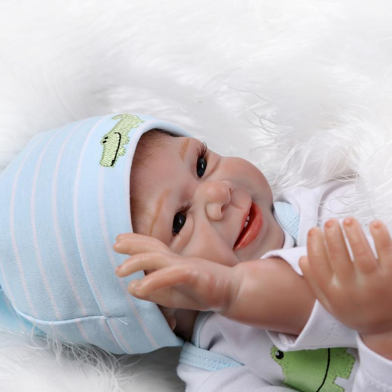 제이티몰 NPK 실리콘 리얼 아기 인형 55cm 애착인형 선물, 단품