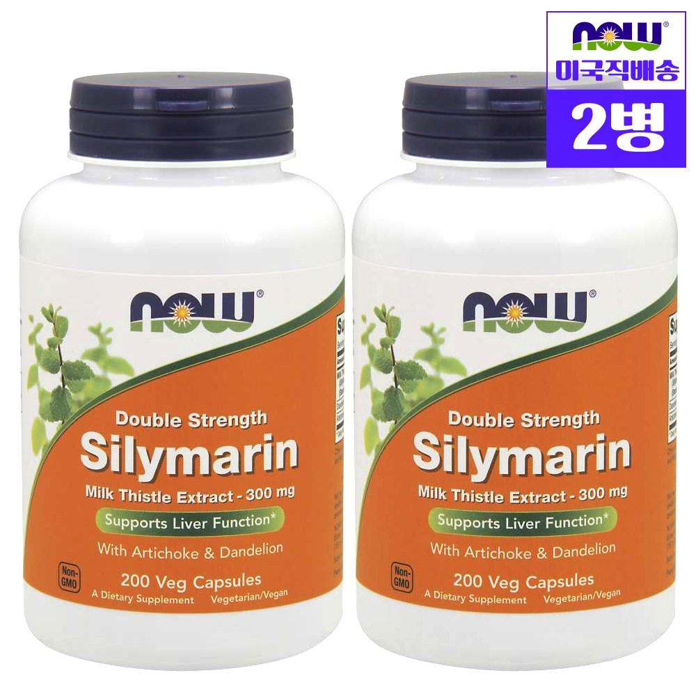 나우푸드 더블스트렝스 실리마린 밀크시슬 추출물 300MG 200정, 2개