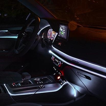 NEW 앰비언트 무드등 신형 EL와이어 광섬유 실내등 LED 무소음, 화이트2M세트