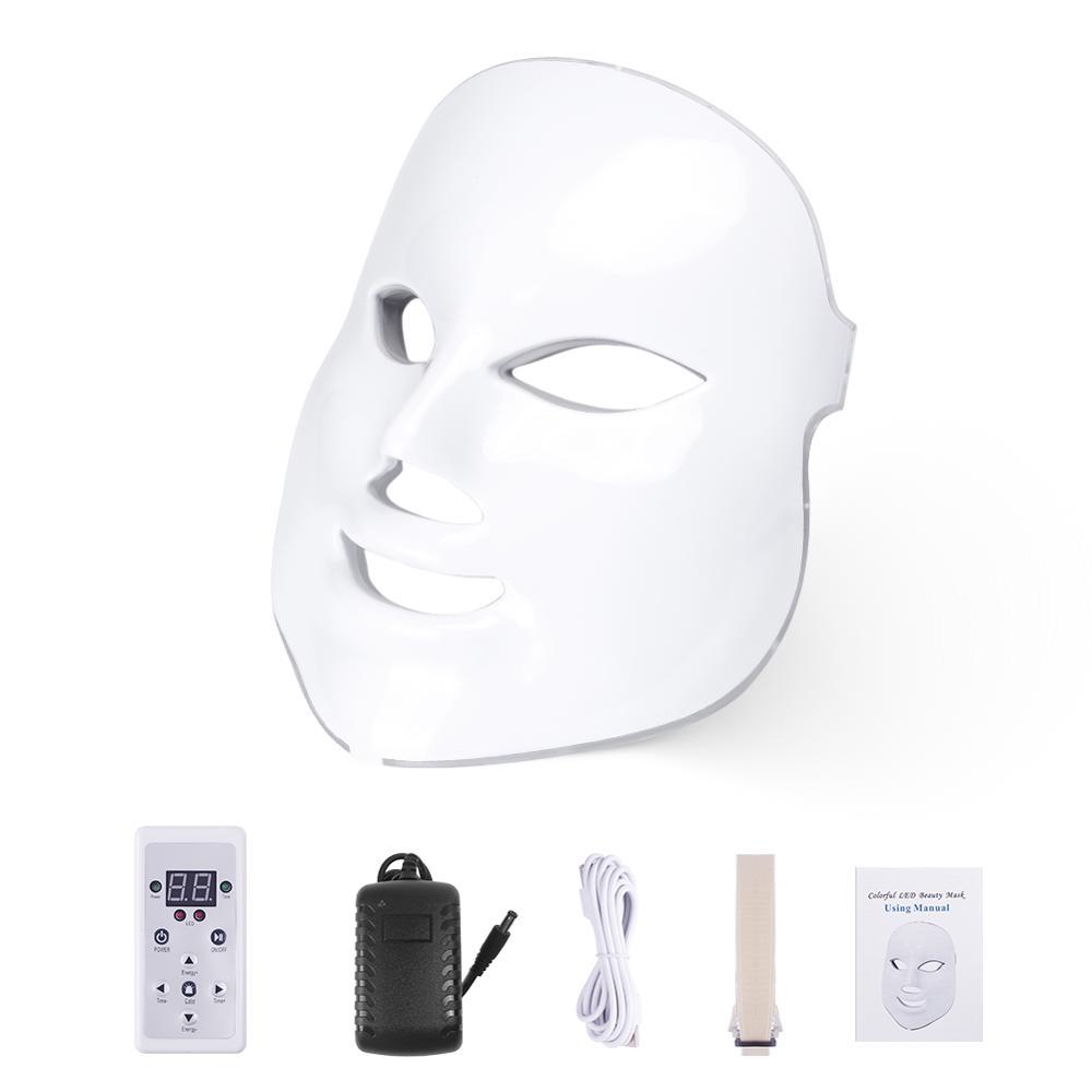 현지브랜드 LUNE 홈케어 LED 마스크 3D 더마 페이스 7컬러 피부관리기, EU Plug no box, 단일