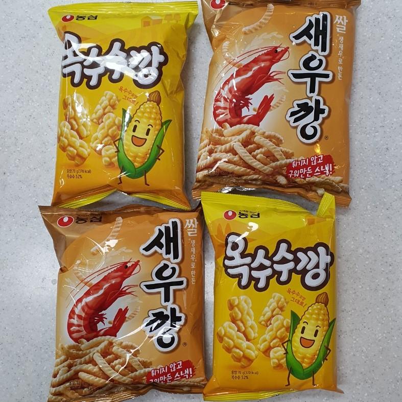 디에이엠 농심 옥수수깡 70g 2봉+ 쌀새우깡 80g 2봉 (총4봉)