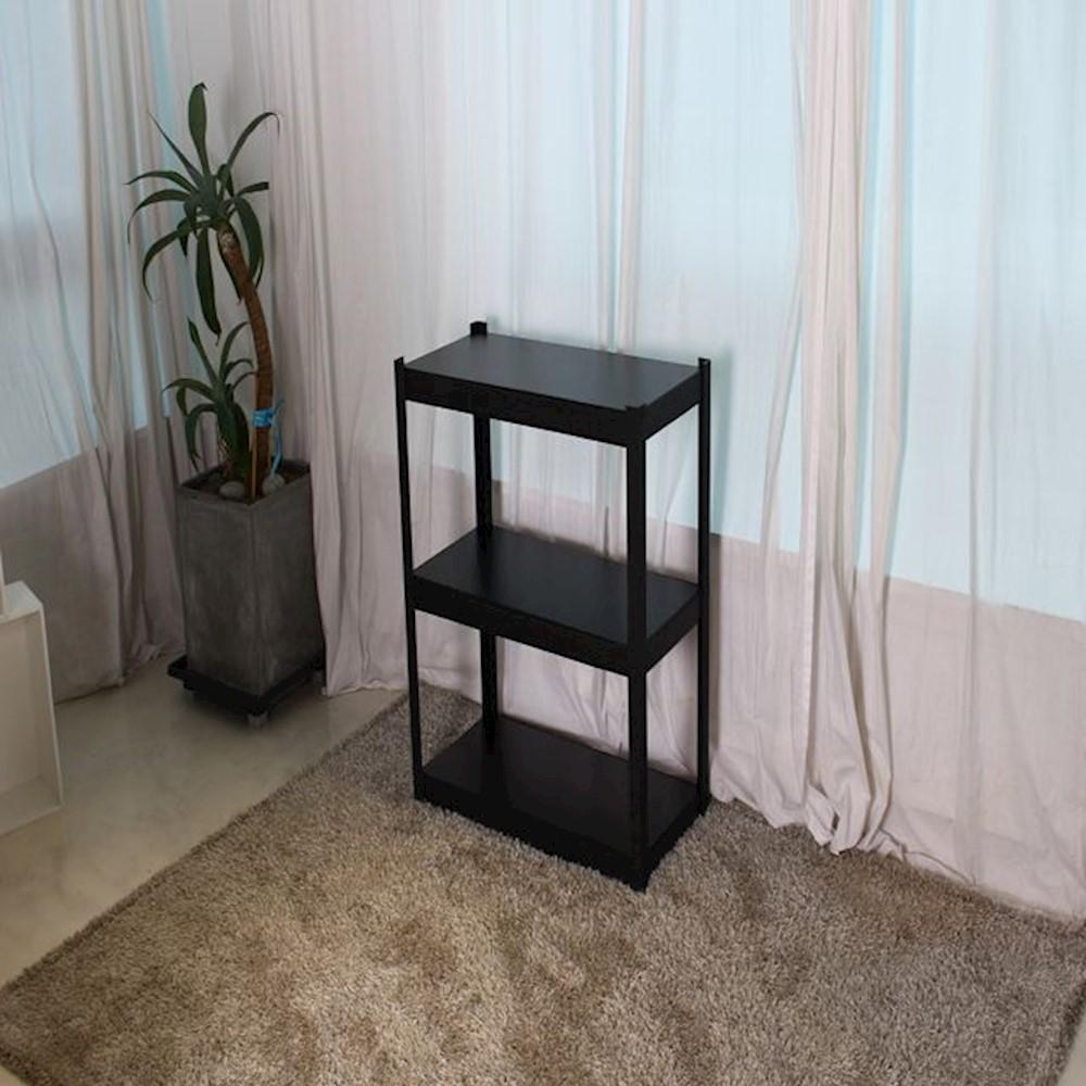 앵글형 고릴라랙 800 3단 90 정리용품 조립식선반 가정용, 블랙
