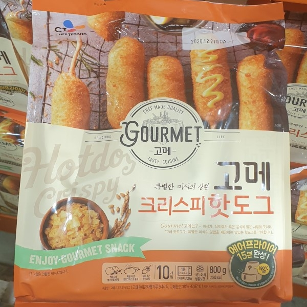 씨제이 고메 크리스피 핫도그 10개입 800g, 아이스팩 포장, 단일상품