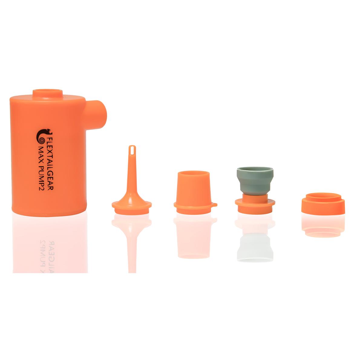 맥스펌프2 휴대용 에어펌프 캠핑 물놀이 여행 필수품, 오렌지