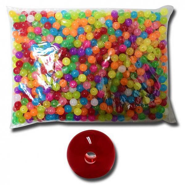 인터마켓 벌크사탕구슬10mm 슬라임재료 구슬꿰기 슬라임 비즈 액체괴물
