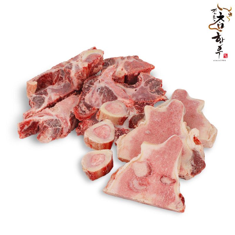 전통참한우 [보신세트] 한우 사골 2kg +한우 잡뼈 2kg, 1개, 사골(2kg)+잡뼈(2kg)