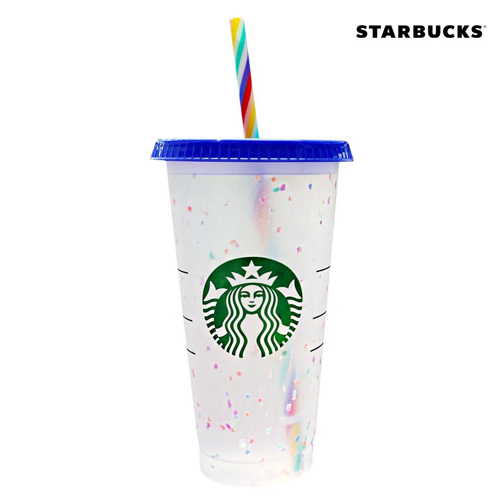 스타벅스 컬러체인징 리유저블 레인보우 콜드컵 벤티 709ml, Starbucks-Reusable-Cold-Cup-Color-Change-24oz