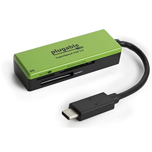 EOM 플러그 형 USB C SD 카드 리더기-SD Micro SD MMC 또는 MS 카드 용 USB C 카드 리더기 (Thunderbolt - E0573011D8ASOU3, 기본