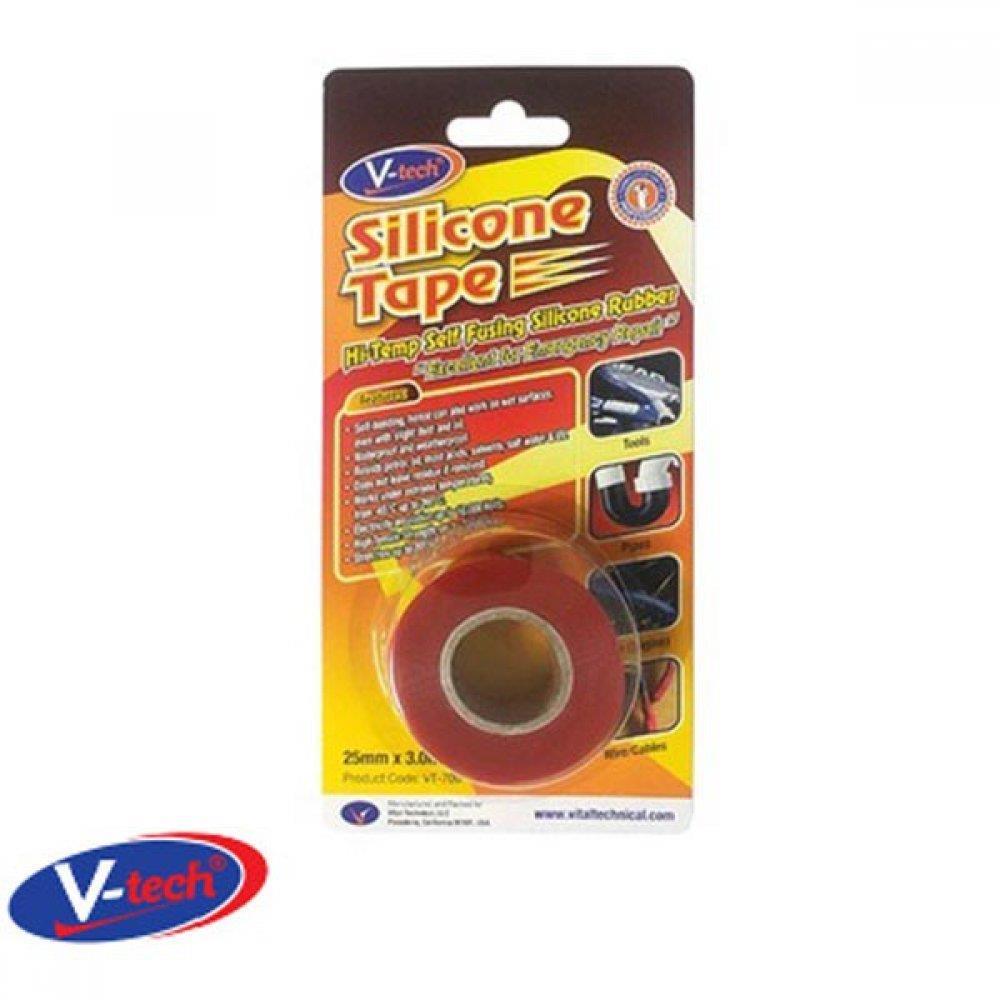 실리콘 보수 테이프 적색 25mm x 파이프보수 파이프밀봉