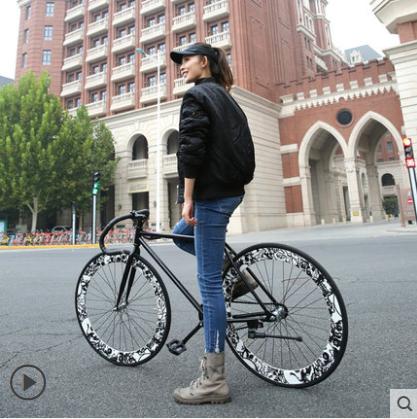 EASTON 26인치 픽시 자전거, A60 클로 블랙 해골